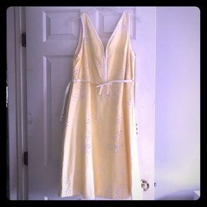 Anthropologie dress size 12 yellow